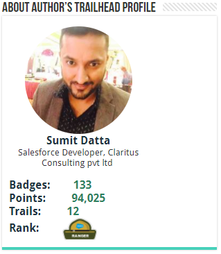 Salesforce Trailhead Widget