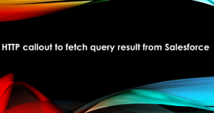 HTTP callout to fetch query result from Salesforce